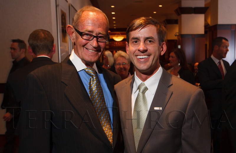 Dennis Dougherty and Dr. Christopher Ott.  The 2012 HRC Mile High Gala, benefiting Human Rights Campaign Colorado, at the Grand Hyatt Denver in Denver, Colorado, on Saturday, April 21, 2012.<br /> Photo Steve Peterson