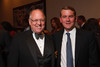 Joe Barrows and Senator MIchael Bennet.  The 2012 HRC Mile High Gala, benefiting Human Rights Campaign Colorado, at the Grand Hyatt Denver in Denver, Colorado, on Saturday, April 21, 2012.<br /> Photo Steve Peterson