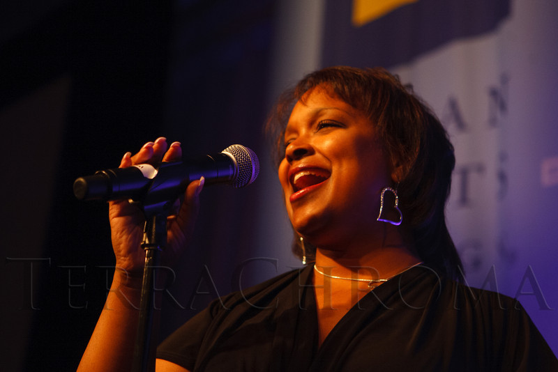 Mary Louise Lee sings.  The 2012 HRC Mile High Gala, benefiting Human Rights Campaign Colorado, at the Grand Hyatt Denver in Denver, Colorado, on Saturday, April 21, 2012.<br /> Photo Steve Peterson