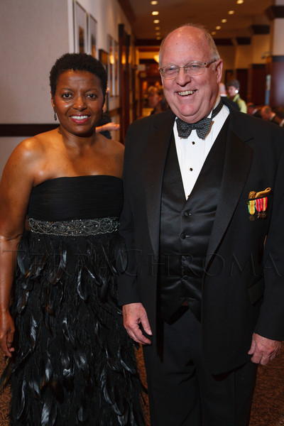 Faye Wilson Tate and Joe Barrows.  The 2012 HRC Mile High Gala, benefiting Human Rights Campaign Colorado, at the Grand Hyatt Denver in Denver, Colorado, on Saturday, April 21, 2012.<br /> Photo Steve Peterson