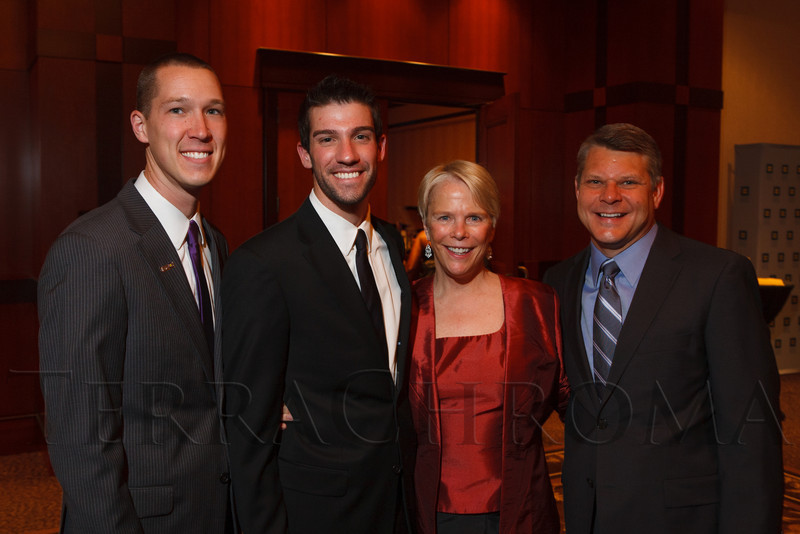 HRC Corporate Sponsorship Committee:  Paul Kaiser, Michael Lalli, Liz Eaton, and Robert Edwards.  The 2012 HRC Mile High Gala, benefiting Human Rights Campaign Colorado, at the Grand Hyatt Denver in Denver, Colorado, on Saturday, April 21, 2012.<br /> Photo Steve Peterson