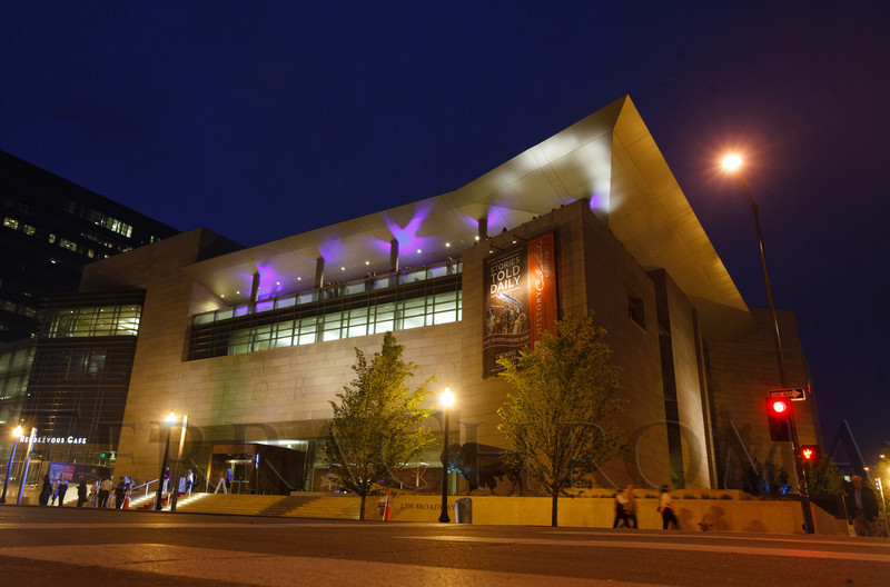 Exterior of the HCC.  The History Colorado Grand Opening Celebration at the History Colorado Center in Denver, Colorado, on Wednesday, April 25, 2012.<br /> Photo Steve Peterson