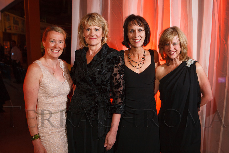 Beth Schulte, Annette Callahan, Kendra Moldenhauer, and Amy Friedman.  The 2012 NightShine Gala, benefiting the Denver Health Foundation, at the National Western Events Center in Denver, Colorado, on Saturday, April 28, 2012.<br /> Photo Steve Peterson