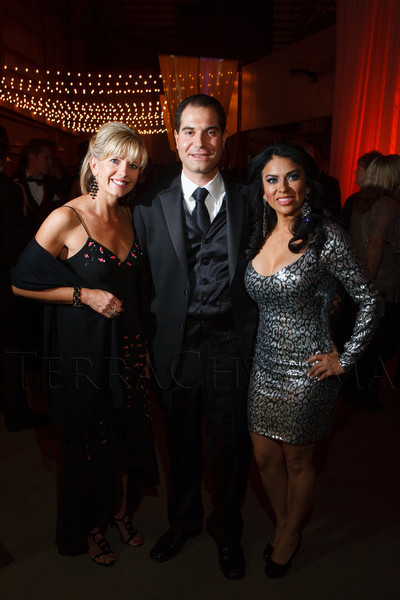 Perri Dombroski, Rob Blaustein, and Julissa Soto.  The 2012 NightShine Gala, benefiting the Denver Health Foundation, at the National Western Events Center in Denver, Colorado, on Saturday, April 28, 2012.<br /> Photo Steve Peterson