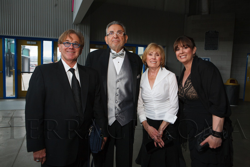 Chuck Morris, Jeff and Ann Breslaw, and Karen Kass.  The 2012 NightShine Gala, benefiting the Denver Health Foundation, at the National Western Events Center in Denver, Colorado, on Saturday, April 28, 2012.<br /> Photo Steve Peterson