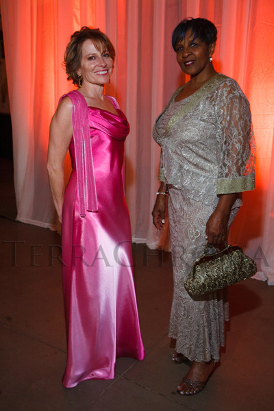 Audrey Martinez and Shirley Christmon.  The 2012 NightShine Gala, benefiting the Denver Health Foundation, at the National Western Events Center in Denver, Colorado, on Saturday, April 28, 2012.<br /> Photo Steve Peterson
