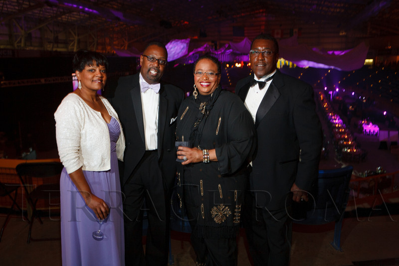 Roz and Will Alston, Elbra Wedgeworth, and Kenneth Allison.  The 2012 NightShine Gala, benefiting the Denver Health Foundation, at the National Western Events Center in Denver, Colorado, on Saturday, April 28, 2012.<br /> Photo Steve Peterson