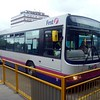 First Potteries Scania Wright Access Ultralow V830GBF 60072 at Crewe bus station with service 20 to Stoke on Trent.