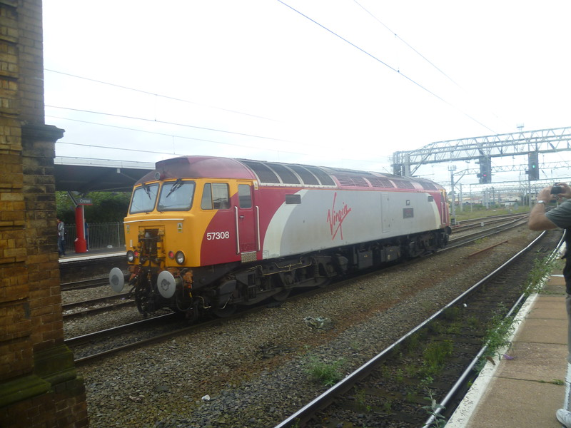 Virgin Class 57 Thunderbird no. 57308 at Crewe.
