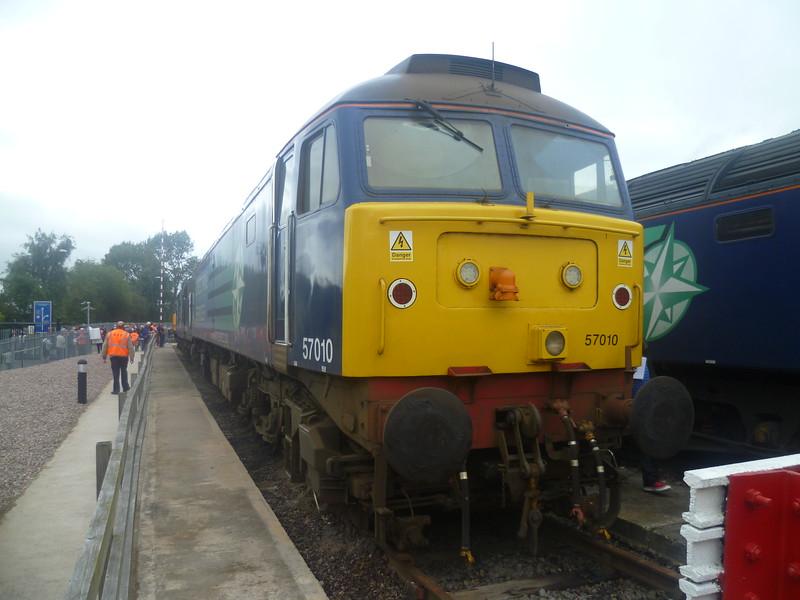 DRS Class 57 no. 57010 at Gresty Bridge depot, Crewe.