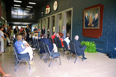 Unveiling of the Lutz-Yelton portrait in the concourse of the LYCC.