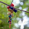 Detail: Prayer ties hang from a small branch on the sacred grounds in Sullivan County.