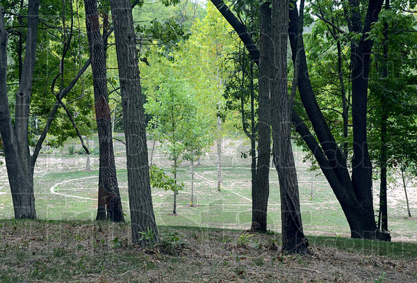 Medicine: The medicine wheel is visible from atop the mound in Sullivan County. The grounds are being tended by inmates from the Wabash Valley Correctional Facility in Carlisle.