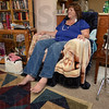 Tribune-Star/Jim Avelis<br /> At home: Teri Altman rests after a day out of her home, her walker near at hand. Altman suffers from Multiple Sclerosis, and is involved in the walks each year.