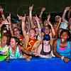 Tribune-Star/Joseph C. Garza<br /> Terre Haute North fans celebrate the football team's win Friday at Memorial Stadium.