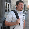 Tribune-Star/Jim Avelis<br /> Senior: Indiana State University student Kyle McCoy talks with Tribune-Star reporter Brian Boyce about his views on campus safety.