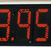 Gas prices: Detail of sign at 500 Express station at 25th and Hulman Friday afternoon.