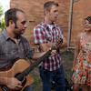 "Polishing their version: Jake Eslinger, 20, of Rockville, Austin Guoli, 20, of Mecca, and Ashton Searing, 20, of Rosedale, sing ""Barton Hollow"" outside of the Farm Bureau Building before performing the song for a talent contest at the 2012 Indiana State Fair in Indianapolis Friday."