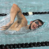 Stroke: Evan Austin swims freestyle during his Thursday workout at the Terre Haute South pool.