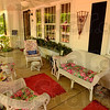 Tribune-Star/Joseph C. Garza<br /> Made in the shade: Bill and Peggy Hanna often use their front porch and it will be the first thing that visitors will see during the Small Spaces/Big Ideas home tour.