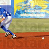 Incoming: Rex infielder Nick Johnson chases a hard-it ball during first inning action Saturday night at Bob Warn Field.