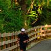 Tribune-Star/Joseph C. Garza<br /> Trail runner: Terre Haute City Planner Pat Martin runs on the National Heritage Trail Sunday, July 30.