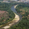Tribune-Star/Joseph C. Garza<br /> Green river: Even though sand banks seem to be growing higher along the river, trees and other plant life still seem to be thriving during this summer's low rain fall.