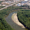 Tribune-Star/Joseph C. Garza<br /> Green river: Even though sand banks seem to be growing higher along the river, trees and other plant life are still thriving during this summer's low rain fall.