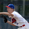 Tribune-Star file photo/Joseph C. Garza<br /> Keeping them off base: Pitcher Kodie Girton of Wayne Newton Post 346 pitches to an Evansville Pate Post 265 batter during the teams' game Sunday, June 17 at Terre Haute North High School.