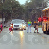 Tribune-Star/Jim Avelis<br /> Careful: Children file on to a Vigo County School Corporation bus from Karen's Kids daycare on the west side of Riley.