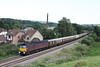10 August 2012 :: 57601 passing Ponthir working 5Z35, Carnforth to Bristol.  Out of the view at the front of the train is newly re painted 47826