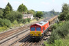 9 August 2012 :: 66101 at Worting with 6O26, Hinksey to Eastleigh departmental