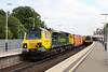 9 August 2012 :: 70007 at Basingstoke on 4O51, Wentloog to Southampton