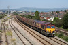 10 August 2012 :: 66126 passing East Usk Yard with 6M86 Margam to Dee Marsh steel train