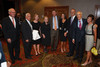 Ambassador Christopher Hill, Walter and Cathy Isaacson, Madeleine Albright, Gov. John Hickenlooper, Susan and Lee McIntire, and Trygve and Vicki Myhren.  The Fifteenth Annual Korbel Dinner, benefiting the Josef Korbel School of International Studies, at the Sheraton Denver Downtown Hotel in Denver, Colorado, on Wednesday, Aug. 15, 2012.<br /> Photo Steve Peterson