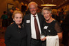 Madeleine Albright with Bob Fullerton and Beverlee Henry.  The Fifteenth Annual Korbel Dinner, benefiting the Josef Korbel School of International Studies, at the Sheraton Denver Downtown Hotel in Denver, Colorado, on Wednesday, Aug. 15, 2012.<br /> Photo Steve Peterson