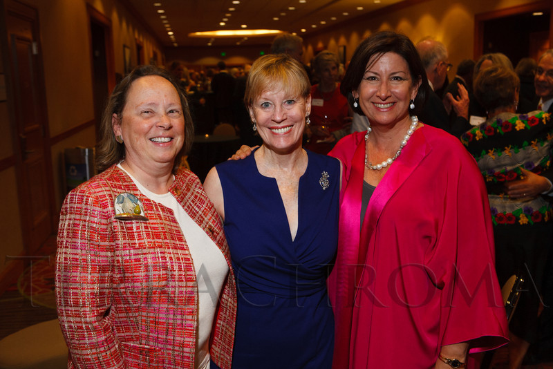 Terry Craig, Nancy Downing, and Rebecca Grappo.  The Fifteenth Annual Korbel Dinner, benefiting the Josef Korbel School of International Studies, at the Sheraton Denver Downtown Hotel in Denver, Colorado, on Wednesday, Aug. 15, 2012.<br /> Photo Steve Peterson