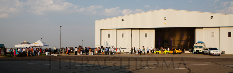 """SaddleUp! and Pack Your Bags"" event, benefiting the SaddleUp! Foundation at the Mayo Aviation Hangar, Centennial Airport, in Centennial, Colorado, on Friday, Aug. 17, 2012.<br /> Photo Steve Peterson"