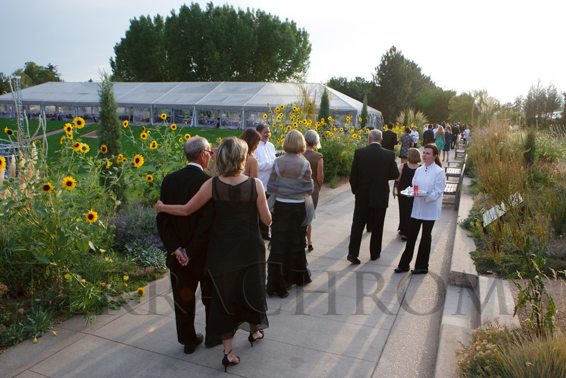 Drinks available on the way into the gardens.  Fete des Fleurs, benefiting the Denver Botanic Gardens, at the Denver Botanic Gardens in Denver, Colorado, on Friday, Aug. 24, 2012.<br /> Photo Steve Peterson