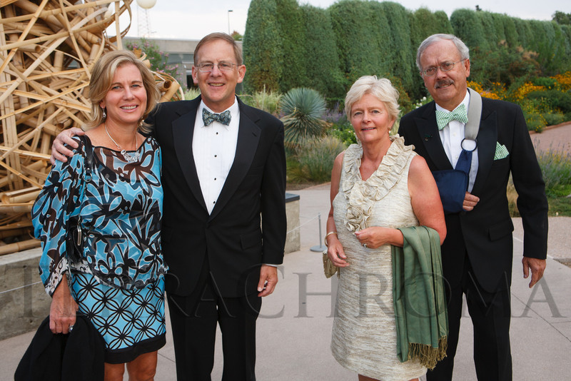 Georgianna and Peter Forbes with Jane and Tim Davis.  Fete des Fleurs, benefiting the Denver Botanic Gardens, at the Denver Botanic Gardens in Denver, Colorado, on Friday, Aug. 24, 2012.<br /> Photo Steve Peterson