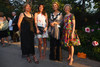 Elizabeth Schlosser, Wallis Jordan (with a Prada clutch), Persis Schlosser, and Judy Grant (wearing Lourdes Chavez).  Fete des Fleurs, benefiting the Denver Botanic Gardens, at the Denver Botanic Gardens in Denver, Colorado, on Friday, Aug. 24, 2012.<br /> Photo Steve Peterson