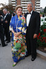 Lana Lee (designer unknown, found at antique store) and Michael Swinyard.  Fete des Fleurs, benefiting the Denver Botanic Gardens, at the Denver Botanic Gardens in Denver, Colorado, on Friday, Aug. 24, 2012.<br /> Photo Steve Peterson