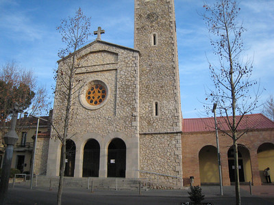 Church in Begues.
