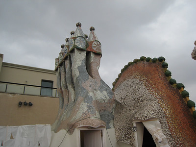 The shapes that Gaudi uses are almost Dr. Seuss-like.