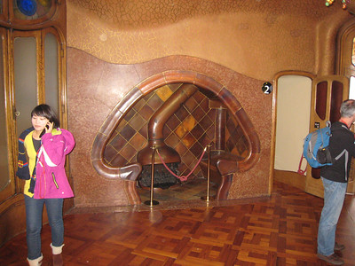 Fireplace in Casa Batllo.