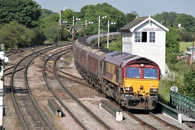 66207 1701/6H07 Immingham-Drax passes Barnetby