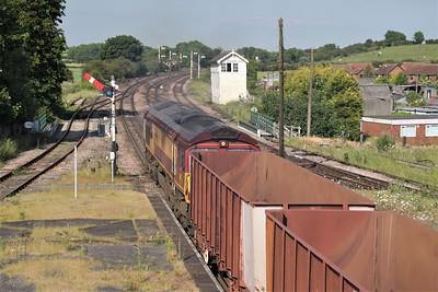 66117 1707/6K26 Santon-Immingham passes Barnetby