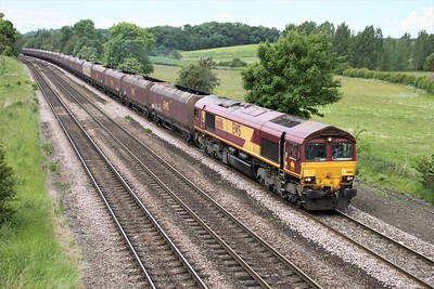 66116 1143/4c73 Scunthorpe-Immingham passes Knabbs Bridge