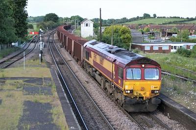 66117 1928/6T28 Immingham-Santon passes Barnetby