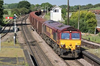66121 1721/6T27 Immingham-Santon passes Barnetby